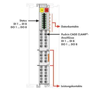WAGO 750-430 8DI 24V DC Digital-Ausgangsklemme sealed
