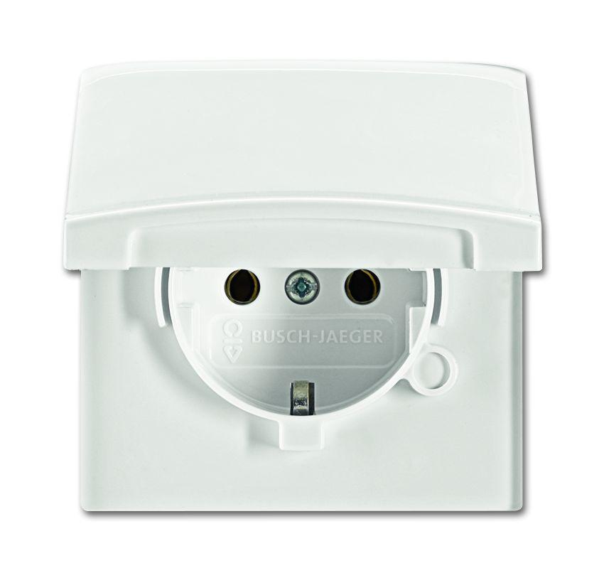 busch jaeger schuko steckdosen einsatz 20 eugk 34 101 elektromax24. Black Bedroom Furniture Sets. Home Design Ideas