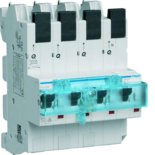 Hager SLS-Schalter 4 polig 3P+N E-Charakteristik 35A HTS635E ...