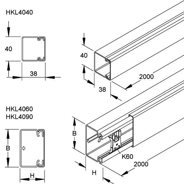 Kleinhuis HKL1515.3 Kanal reinwei/ß 2m